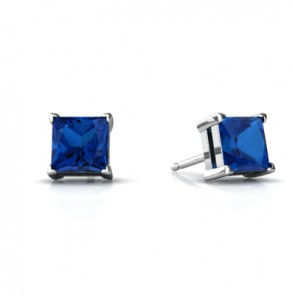 925 Created Sapphire Earrings
