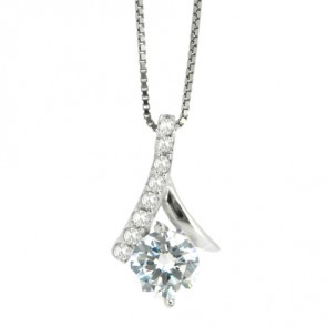 925 CZ Hearts & Arrow Pendant