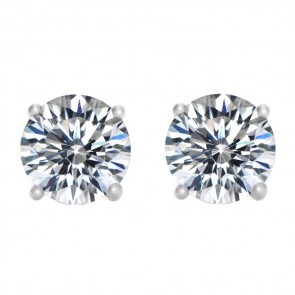 925 Two Carat CZ Hearts & Arrow Studs