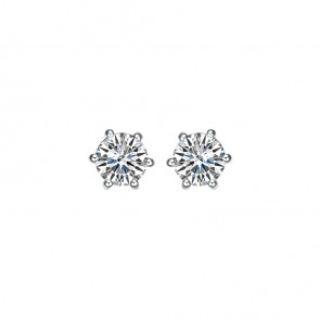 925 0.10ct CZ Hearts & Arrow Studs