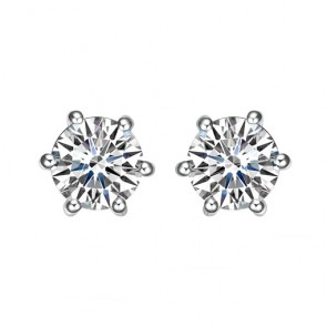 925 One Carat CZ Hearts & Arrow Studs