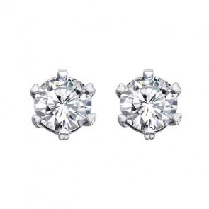 925 One Carat CZ Hearts & Arrow Studs | Heart Shape Claws