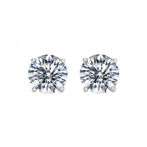 925 3/4 Carat CZ Hearts & Arrow Studs