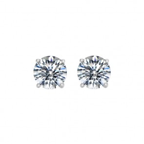 925 1/2 Carat CZ Hearts & Arrow Studs
