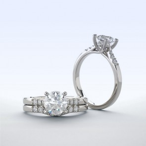 18k White Gold Ring Setting