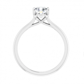 14K White Gold 1.25ct Cushion Solitaire Engagement Ring