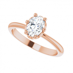14K Rose Gold 7x5 mm Oval Engagement Ring