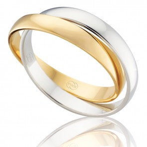 18kt Men's Russian Wedding Ring