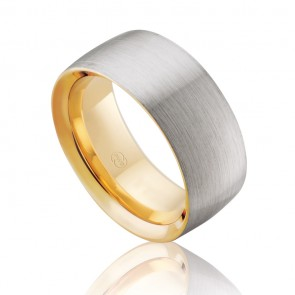 18k 2-Tone Sleeved Wedding Band
