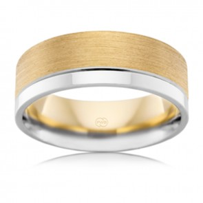 18k Mens 2T Wedding Ring 8mm