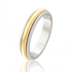 18k Two Tone Wedding Ring