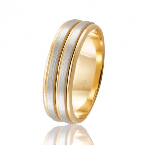 18k 2-Tone Wedding Band