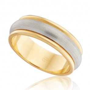 18k 2-Tone Wedding Ring