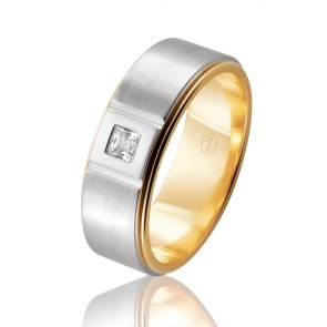 18k Mens Diamond Wedding Band - 0.15ct