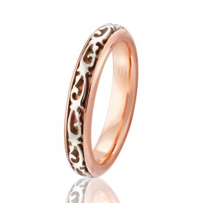 9k Ladies 2-Tone Filigree Ring