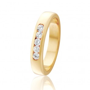 18k Diamond Wedding Ring - 0.25ct Total Diamond Weight