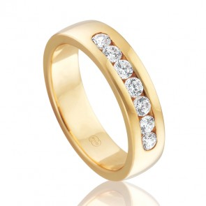 18k Diamond Set Wedding Ring - 0.49ct Total Diamond Weight