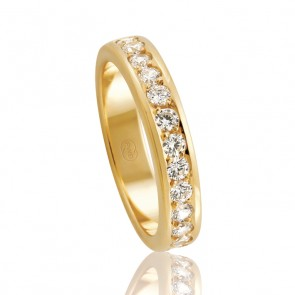 18k Diamond Wedding Band - 0.42ct Total Diamond Weight