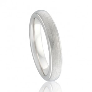 18k Stepped Edged Bellini Wedding Ring
