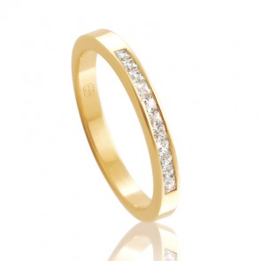 18k Diamond Set Wedding Ring - 0.33ct Total Diamond Weight