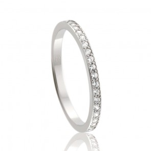 9k Diamond Set Wedding Band - 0.20ct Total Diamond Weight