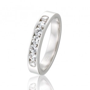 9k Diamond Channel Set Band - 0.49ct Total Diamond Weight