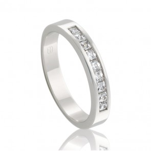 18k Diamond Channel Set Wedding Band - 0.45ct Total Diamond Weight