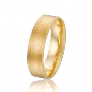 18k Mens Grain Parallel Finish Wedding Band
