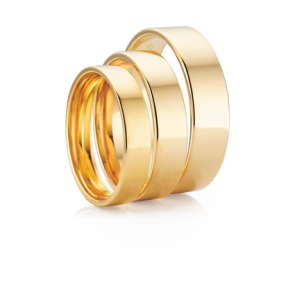 7mm 9k Mens Flat Profile Wedding Band