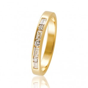 18k Channel Set Wedding Band - 0.41ct Total Diamond Weight