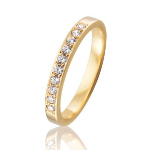 18k Diamond Set Wedding Band - 0.20ct Total Diamond Weight