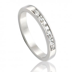 9kt Diamond Set Wedding Band - 0.44ct Total Diamond Weight