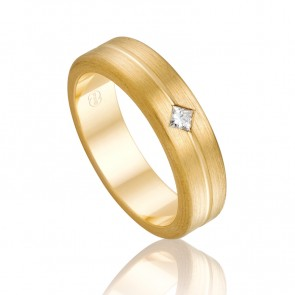 18k Mens Diamond Wedding Ring - 0.10ct