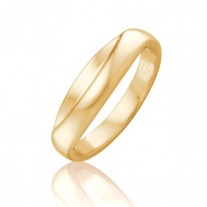9k Gold Fitted Wedding Band