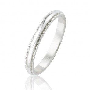18k Faceted Wedding Band