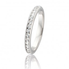 18k Diamond Channel Set Wedding Band - 0.28ct Total Diamond Weight