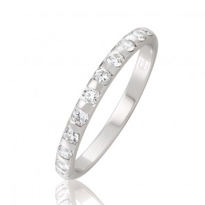 18kt Diamond Wedding Band - 0.33ct Total Diamond Weight