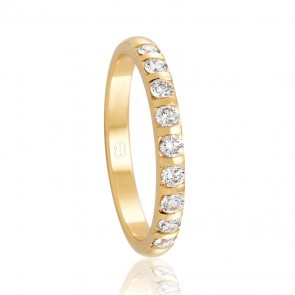 18k Diamond Wedding Band - 0.36ct Total Diamond Weight