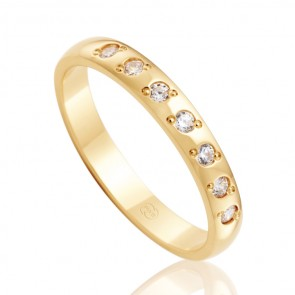 18k Diamond Wedding Band - 0.14ct Total Diamond Weight