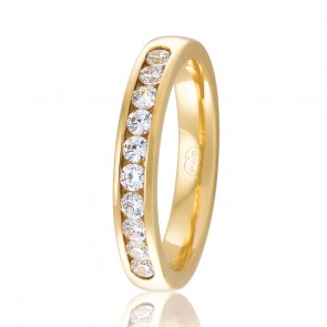 18k Diamond Set Wedding Ring - 0.40ct Total Diamond Weight