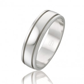 9k Faceted Wedding Band