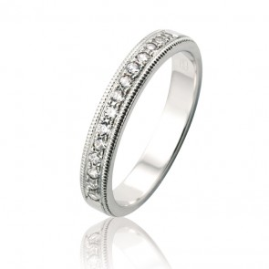 18k Diamond Set Wedding Band - 0.42ct Total Diamond Weight