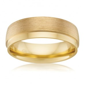 9k Mens Wedding Band - 7mm