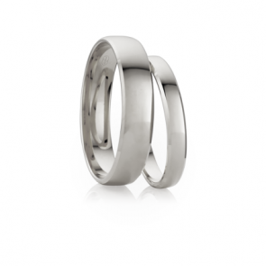 7mm 9k Half Round Bevel Wedding Band