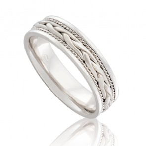 9k Braided Wedding Ring