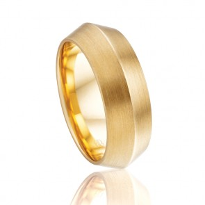 18k Mens Knife Edge Wedding Band