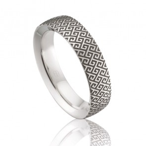 9k Engraved Wedding Ring