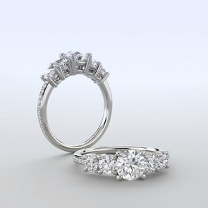 18k White Gold Ring Setting | 1.50 carat
