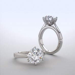 18k White Gold Solitaire Ring Setting