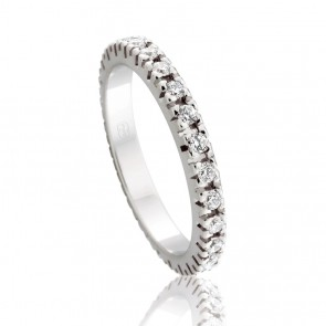 18k Diamond Eternity Band - 0.78ct Total Diamond Weight